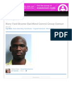 Strahlenfolter Stalking - TI - Aaron Alexis - Navy Yard Shooter Had Mind Control Group Contact - Examiner.com