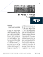The Politics of Political Geography