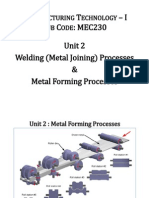 6 Unit 2- Metal Forming Processes