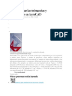 Cómo colocar las tolerancias y dimensiones en AutoCAD