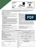 Balasto de Emergencia Autonomo ATOMLUX Permanente y No Permanente Modelo 1601 1601N