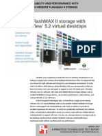 Virtual desktop scalability and performance with VMware View 5.2 and Virident FlashMAX II storage