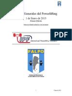 Rulebook Spanish ipf powerlifting 2013