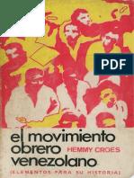 H. cROES El Movimiento Obrero Venezolano
