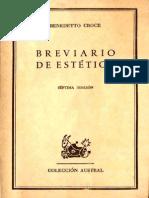 Croce, Benedetto - Brevario de Estetica