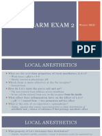 Pharmacology Exam 2 PP