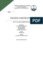 PROCESO CONSTRUCTIVO DE UNA CASA HABITACIÓN