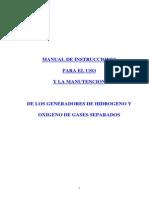Manual Uso y Mantenimiento Generadores Hidrogeno