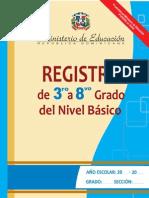 Registro de Grado 3ro a 8vo 2013 1