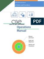 CSE Operations Manual 051613