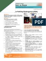Documentation in Full-Day Kindergarten (FDK)