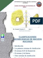 17.- Clasificaciones Geomecánicas de los Macizos Rocosos