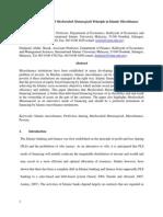 Musharakah Mutanaqisah Principle in Islamic Microfinance-2011