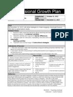professional growth plan - johannah