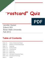postcard quiz