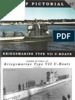 Warship Pictorial 27 Kriegsmarine Type VII Uboot