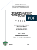 Análisis comparativo de evaluación de defectos en ductos entre estudios realizados con equipos instrumentados