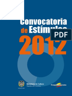 CONVOCATORIA 2012