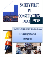 Safety First in Construction Industry