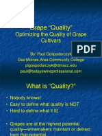Wisconsin Grape Quality