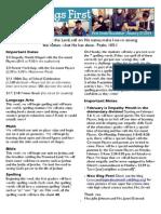 January 27 Newsletter