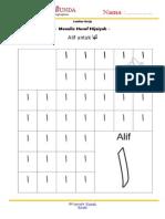 Menulis Hijaiyah Alif-Ta