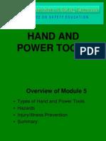 Module 5 Hand and Power Tools Seminar