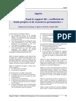Algerie - R.2004-04 Fonds Propres Banques