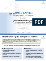Questions Human Capital Analytics Can Answer