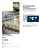 Philly Cheesecake Recipe