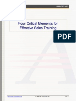 4 Critical Elements for Effective Sales Training