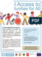 National Disability Prevention and Rehabilitation Week Flyer