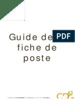 Guide Fiche Poste