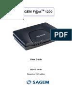 Sagem Fast 1200 GB Manual