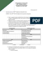 Memorandum Firefighter Quarterly Training