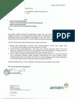 Surat 581-Pemberitahuan Alih Vendor