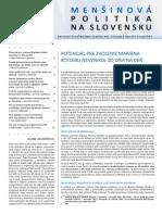 Menšinová politika na Slovensku 4/2013