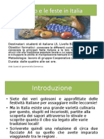 Il Cibo e Le Feste in Italia