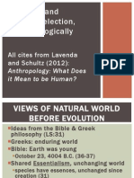 Evolution and Natural Selection Anthropologically