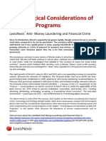 Technological Considerations of AML/CTF Programs