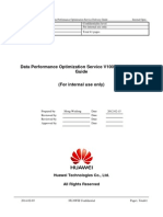 Data Performance Optimization Service V100R002 Delivery Guide V0.8 (20120320)