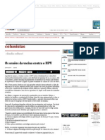 Os senões da vacina contra o HPV - 28_01_2014 - Claudia - Colunistas - Folha de S