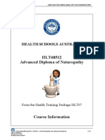 2012 HLT60512 Adv.dip.Naturopathy Course Information Booklet