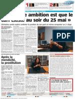 La Nouvelle Gazette - Ma Seule Ambition Est Que Le CdH Existe Au Soir Du 25 Mai - 03.02.2014