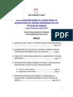 INFORMACIÓN IDIOMA MODERNO 2013-14
