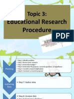 Educational Research Procedure Editted