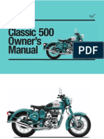 Bullet Classic 500 Owners Manual
