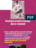 Temeljna pravila treninga djece i mladež