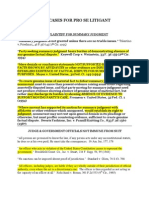 Cites on Summary Judgment, Judicial Immunity