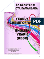 Scheme of Work for Year Six 2014